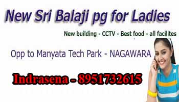 Balaji pg in Nagawara, Bangalore, paying guest near Manyata tech Park, paying guest accomodation in Bangalore