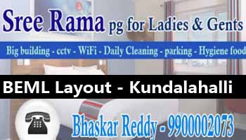 Paying guest accomodation in Bangalore, PG In kundalahalli gate, ladies pg in Kundalahalli bangalore, Gents pg in Kundalahalli gate, Best paying guest accomodation, newly opened pg in BEML layout Bangalore