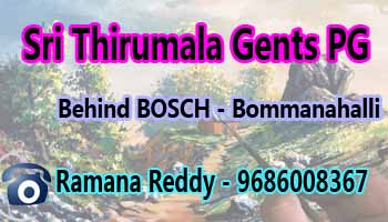 paying guest in bangalore, pg in bommanahalli bangalore, gents pg near Silk board bangalore, PG near Hosur road bosch