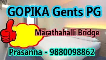 paying guest in Bangalore, pg in marathahalli bridge, Gopika paying guest, paying guest accomodation for males