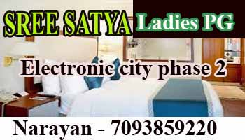 paying guest in Bangalore, pg in Electronic city, sree satya gents pg, paying guest in Electronic city phase2