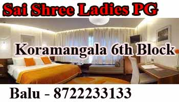 paying guest in Bangalore, pg in Koramangala, paying guest koramangala 1st Block